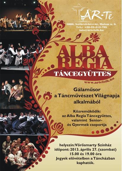 7fec340cc8 Vörösmarty Színház, Székesfehérvár 2013. április 27. Az Alba Regia  Táncegyüttes ...